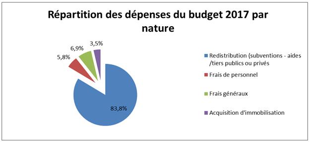 Répartition des dépenses du budget 2017